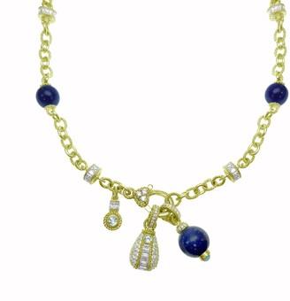 "Judith Ripka 14K Gold-Clad Gemstone & Diamonique 18"" Necklace"