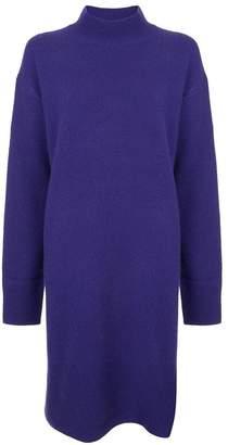 Le Ciel Bleu stand-up collar knit dress