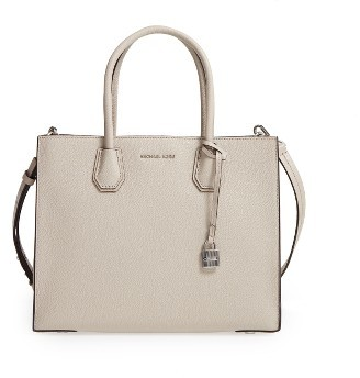 Michael Michael Kors 'Large Mercer' Tote - Beige $298 thestylecure.com