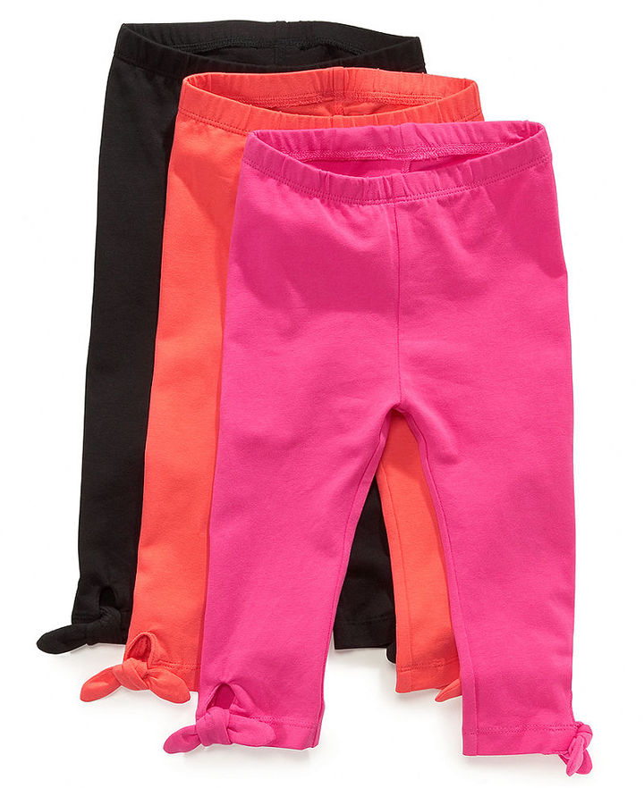 First Impressions Baby Playwear, Baby Girls Solid Bow Leggings