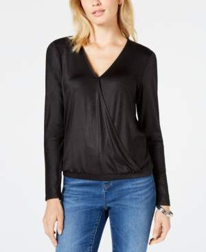 INC International Concepts I.n.c. Shiny Wrap Top, Created for Macy's