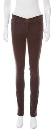 J Brand Low-Rise Corduroy Pants