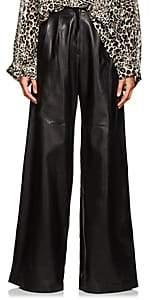 Nili Lotan Women's Nico Leather Wide-Leg Pants - Black