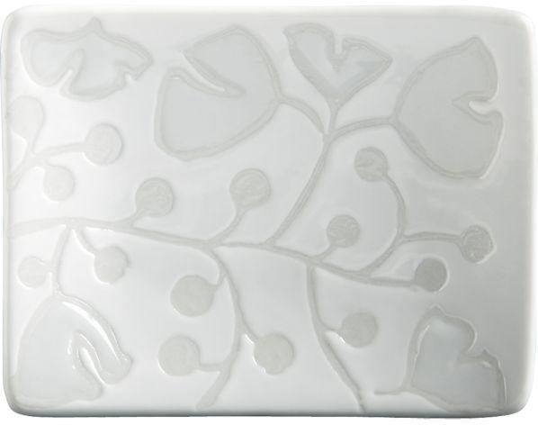 "Crate & Barrel Akemi White 3.375""x2.5"" Mini Dish"