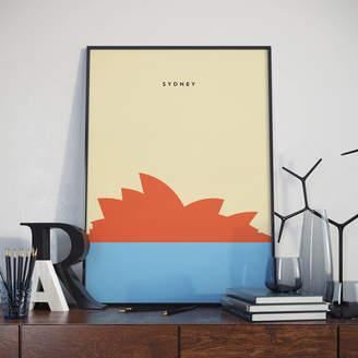 Jack's Posters Sydney Opera House Contemporary Landmark Print