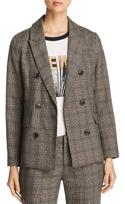 MKT Studio Vixine Plaid Shawl-Collar Blazer