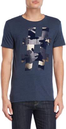 William Rast Camouflage Hashtag Graphic Tee