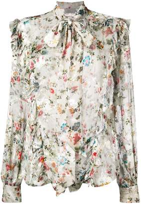 Preen by Thornton Bregazzi Zinna floral printed blouse