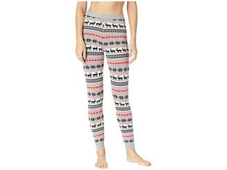 Hot Chillys Sweater Knit Printed Leggings