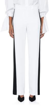Carolina Herrera Low-Rise Bicolor Pant
