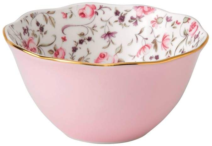 Rose Confetti Ice Cream Bowl
