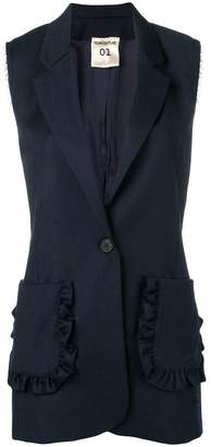 Semi-Couture Semicouture ruched pockets waistcoat