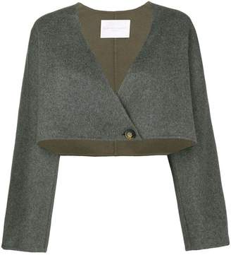 Fabiana Filippi wrap front cropped jacket