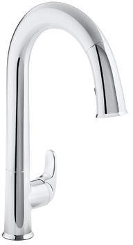 Kohler Sensate Touchless Kitchen Faucet with 15-1/2 Pull-Down Spout, Docknetik Magnetic Docking System, ProMotion?, MasterClean? and A 2-Function Sprayhead Featuring The New Sweep Spray