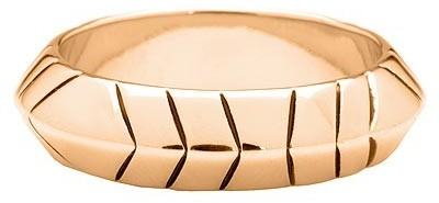 House Of Harlow By Nicole Richie Thick Stack Ring Rose Gold