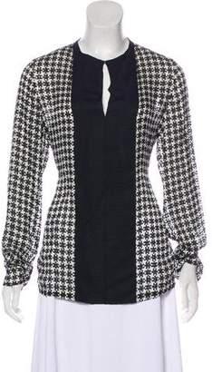 Lanvin Patterned Long Sleeve Blouse