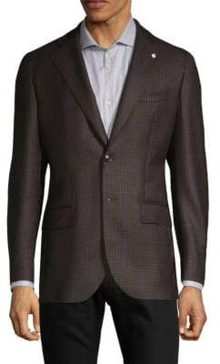 Lubiam Plaid Wool Sportcoat