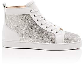 Christian Louboutin Men's Louis Flat Leather Sneakers - White