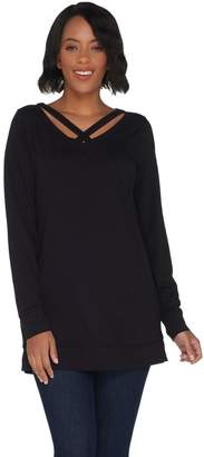 Belle By Kim Gravel TripleLuxe Knit Criss Cross Tunic