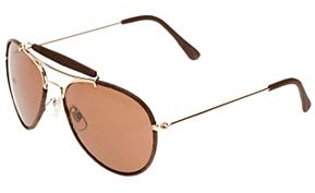 Leather Bar Aviator Sunglasses