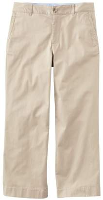 L.L. Bean L.L.Bean Washed Chinos, Wide-Leg Cropped