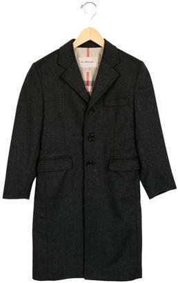 Burberry Boys' Wool-Blend Long Coat $225 thestylecure.com