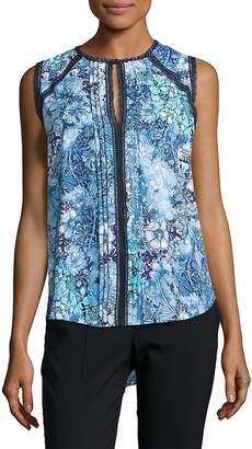 Elie Tahari Women's Norma Floral-Print Sleeveless Blouse