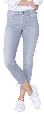NYDJ Ami Skinny Tie Hem Ankle Jeans