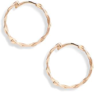 kismet by milka Large Braided Hoop Earrings