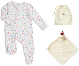 Angel Dear Chickens Footie & Blankie Set