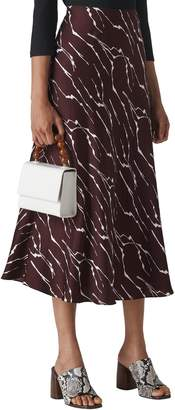 Whistles Twig Pattern Bias Skirt