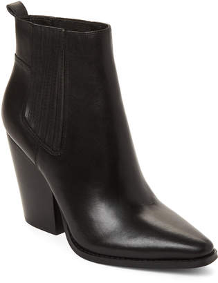 KENDALL + KYLIE Black Colt Pointed Toe Leather Booties