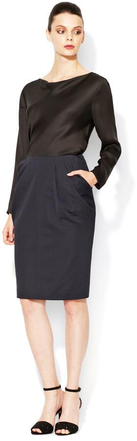 Giorgio Armani Pleated Front Pencil Skirt
