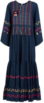 Mira Mikati Gypsy Embroidered Maxi Dress