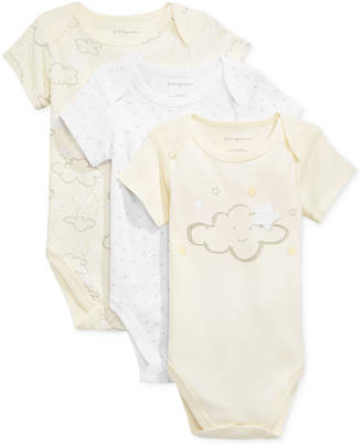 First Impressions Baby Boys & Girls 3-Pk. Clouds & Stars Bodysuits, Created for Macy's