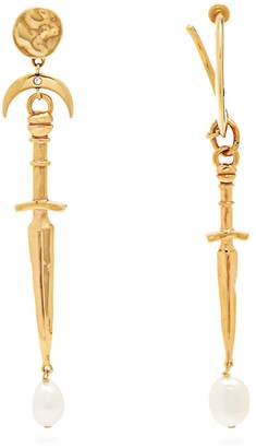 Givenchy Dagger and pearl-drop earrings