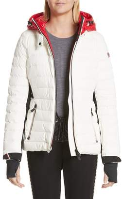 Moncler Bruche French Flag Down Hooded Puffer Coat