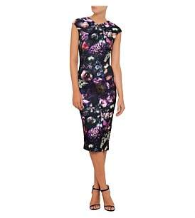 Ted Baker Raisie Bodycon Fitted Shadow Floral Midi Dress