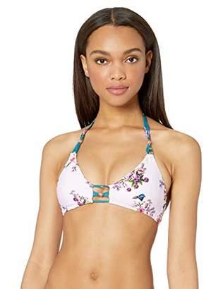 Nanette Lepore Women's Strappy Bralette Halter Bikini Swimsuit Top