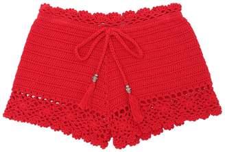Ermanno Scervino Woven Cotton Shorts
