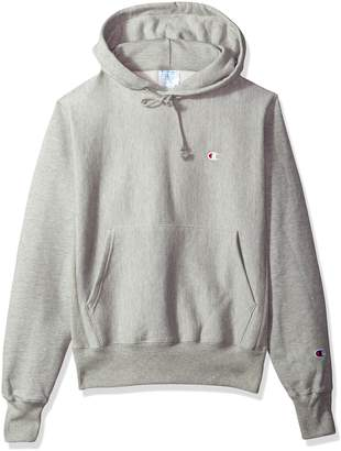 Champion LIFE Men's Reverse Weave Pullover Hoodie, Granite Heather/Left Chest C Logo