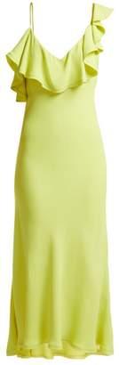 Maria Lucia Hohan Ruffled Bias Cut Crepe Dress - Womens - Green