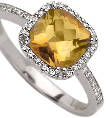 Brian Danielle Citrine  Diamond Ring