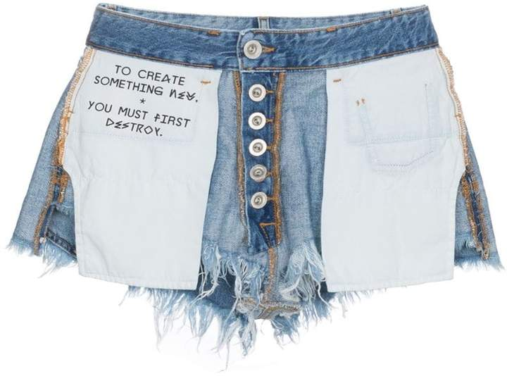 Unravel Project Jeans-Shorts im Inside-Out-Look