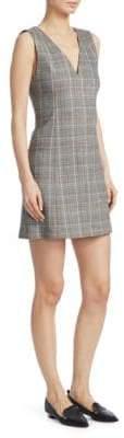 Theory Plaid Easy V Sheath Dress