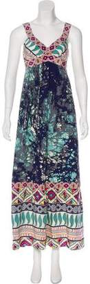 Tibi Sleeveless Printed Maxi Dress