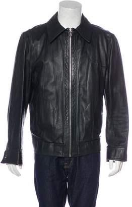 Dolce & Gabbana Lambskin Zip Jacket