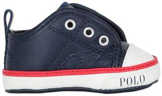 Ralph Lauren (ラルフ ローレン) - Ralph Lauren Childrenswear Nappa Leather Slip-On Sneakers