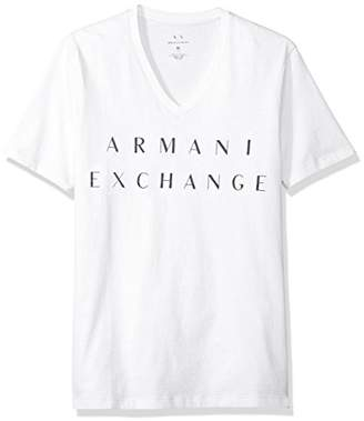 Armani Exchange A|X Men's Basic Logo V Neck Tee