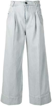 Diesel Black Gold cropped wide jeans in light-cast denim